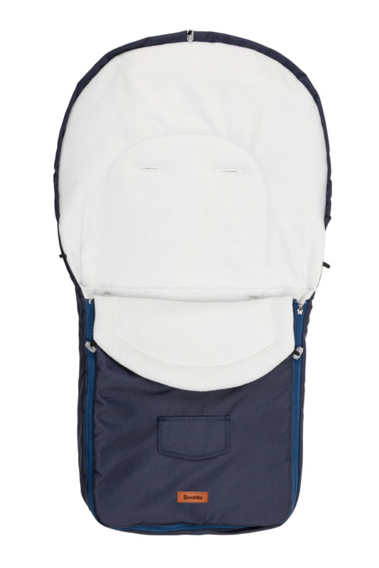Stroller sleeping bag – navy blue/polar