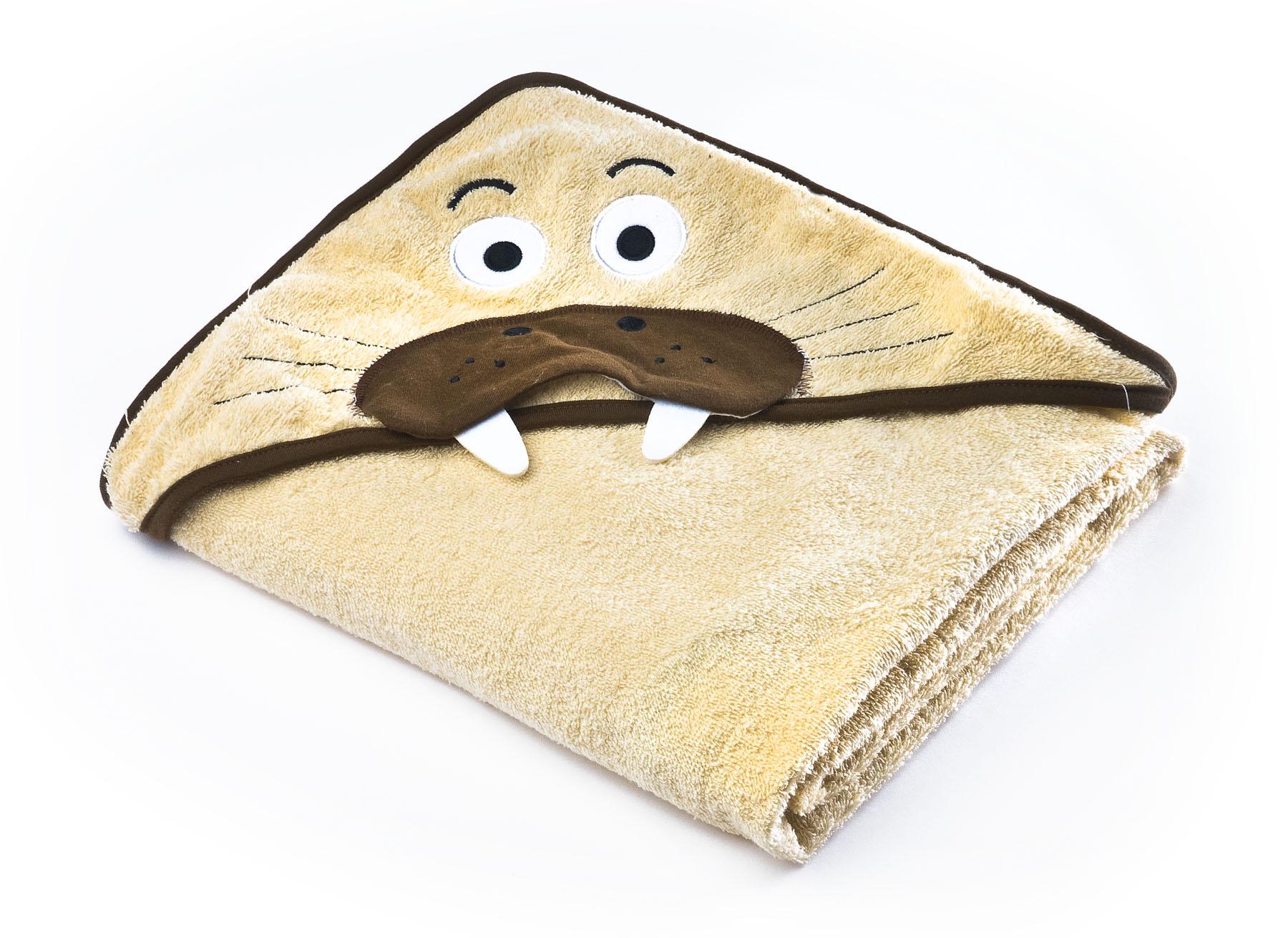 Water Friends soft bath towel – beige walrus