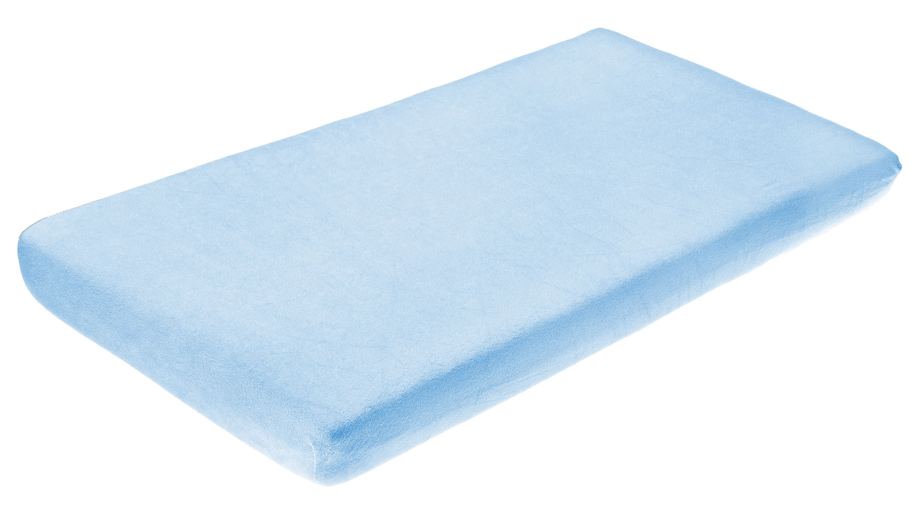 Frotte bed sheet with elastic band – blue