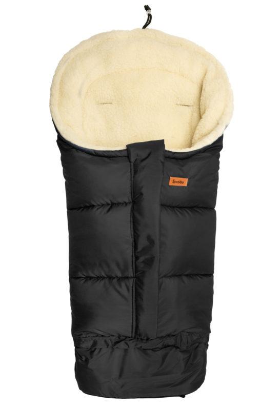 Combi 3in1 Romper bag – black/wool