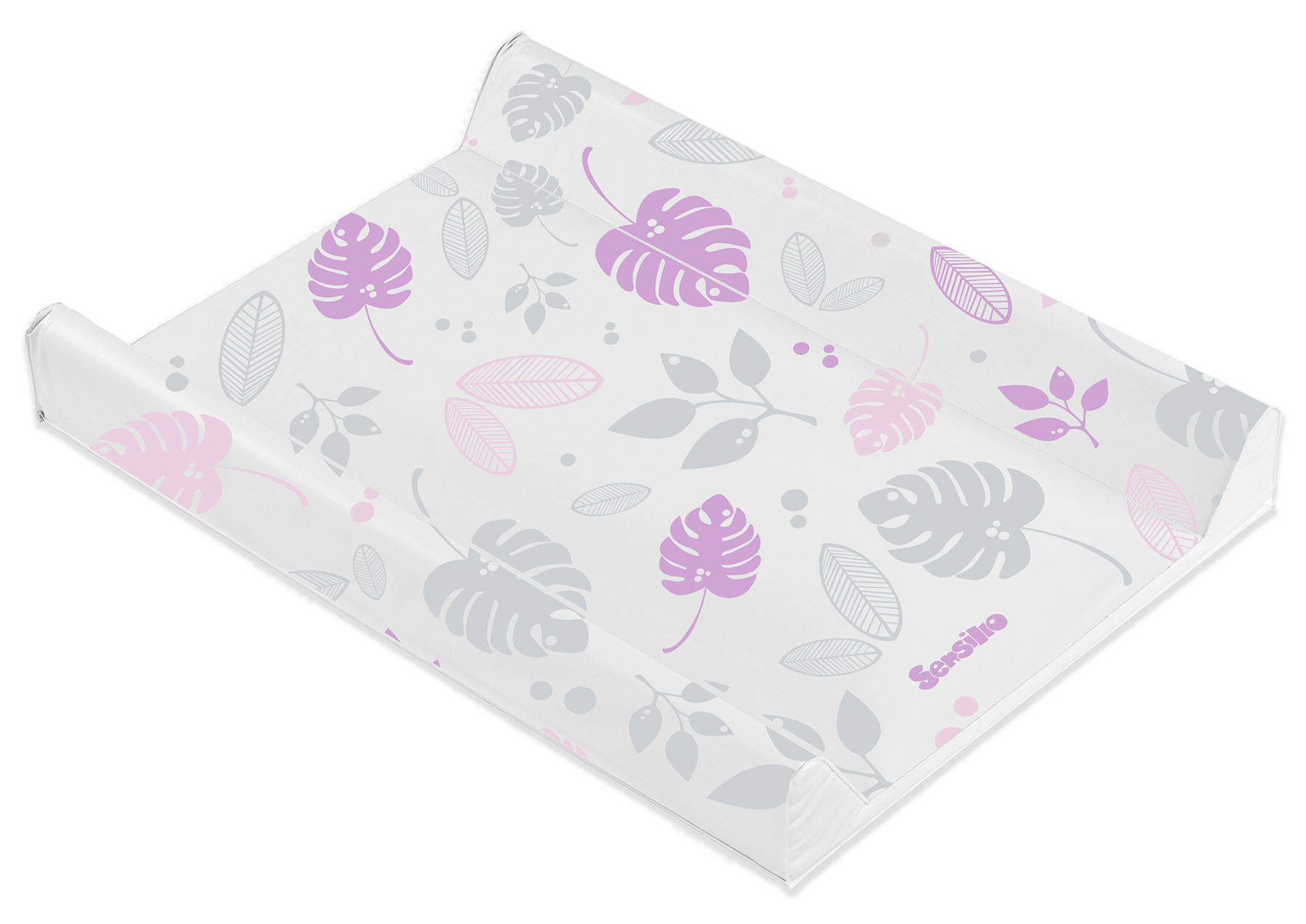 Floral Changing Pad – platninum and pink