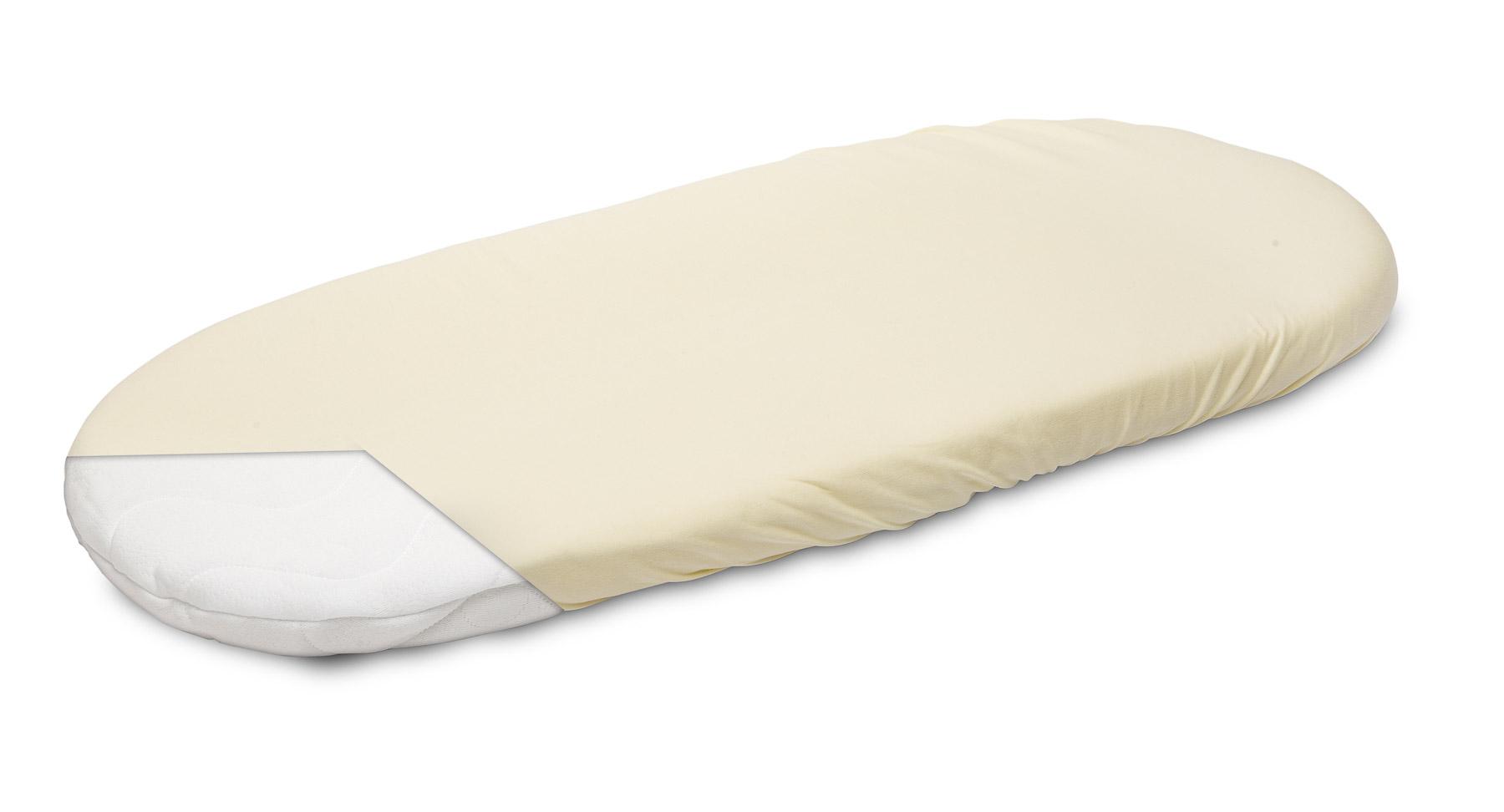 Jersey Pushchair Sheet – cream