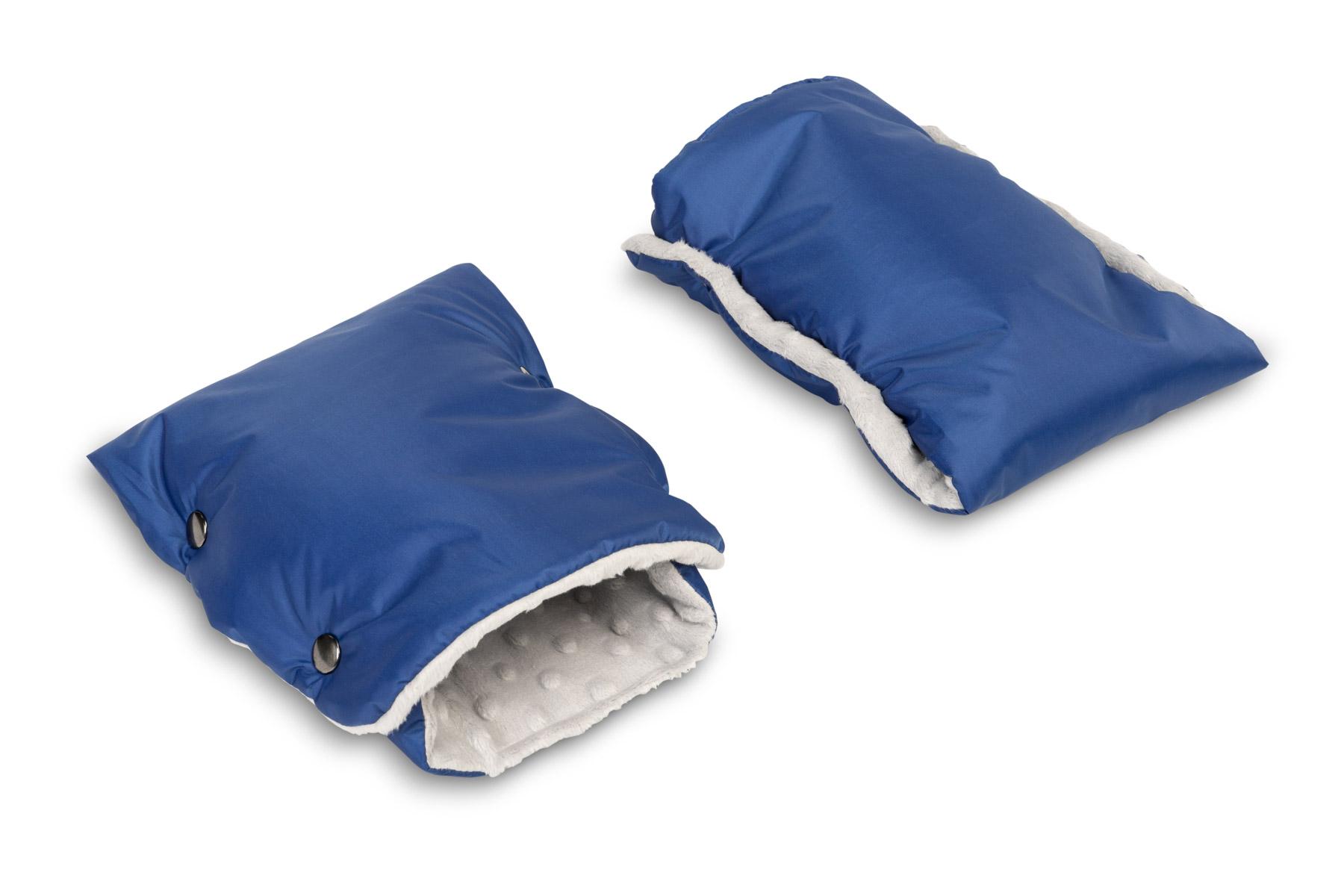Rękawiczka/Mufka minky – niebieska