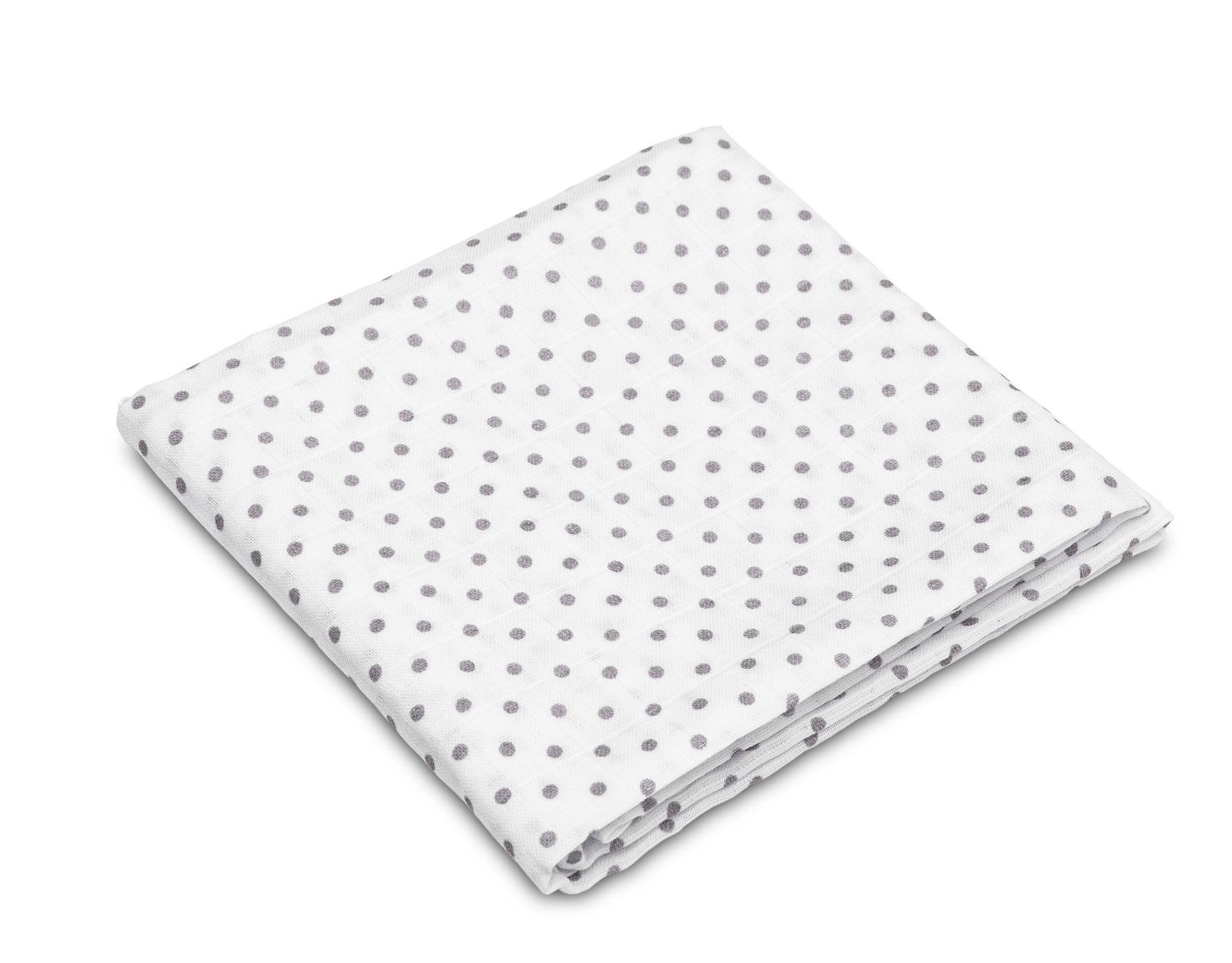 Muslin diaper – dots grey
