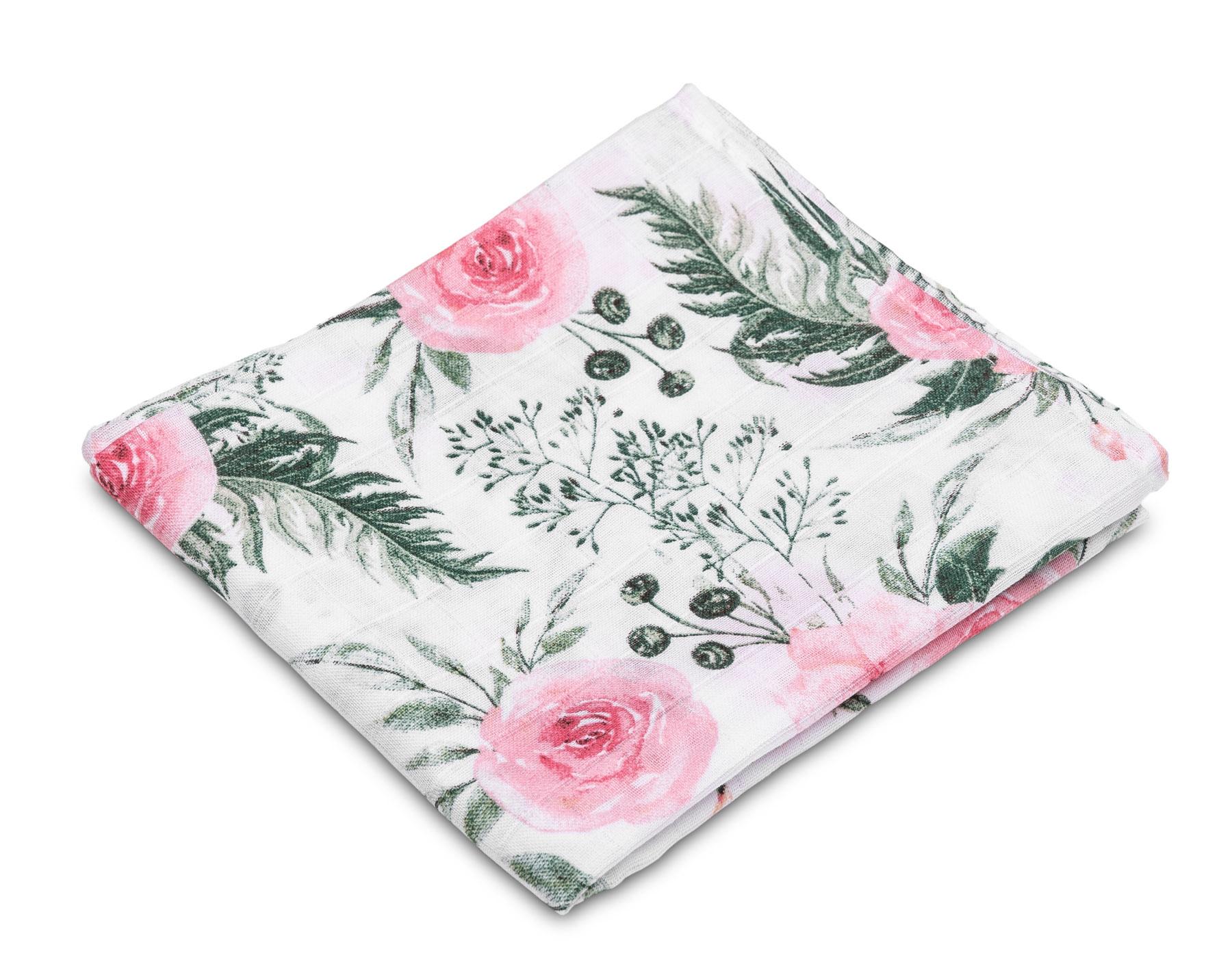 Muslin diaper – roses