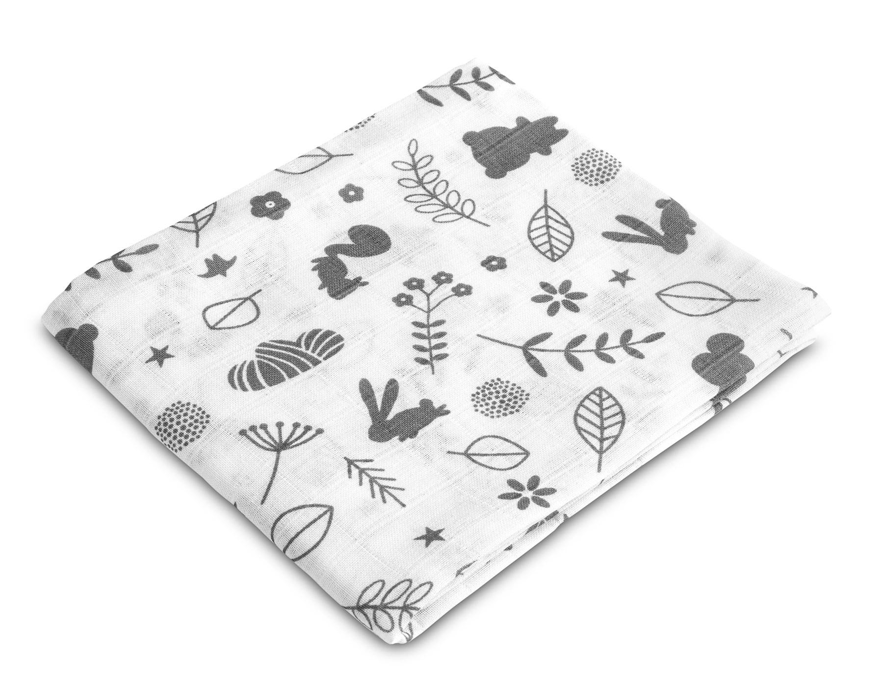 Muslin diaper – forest white