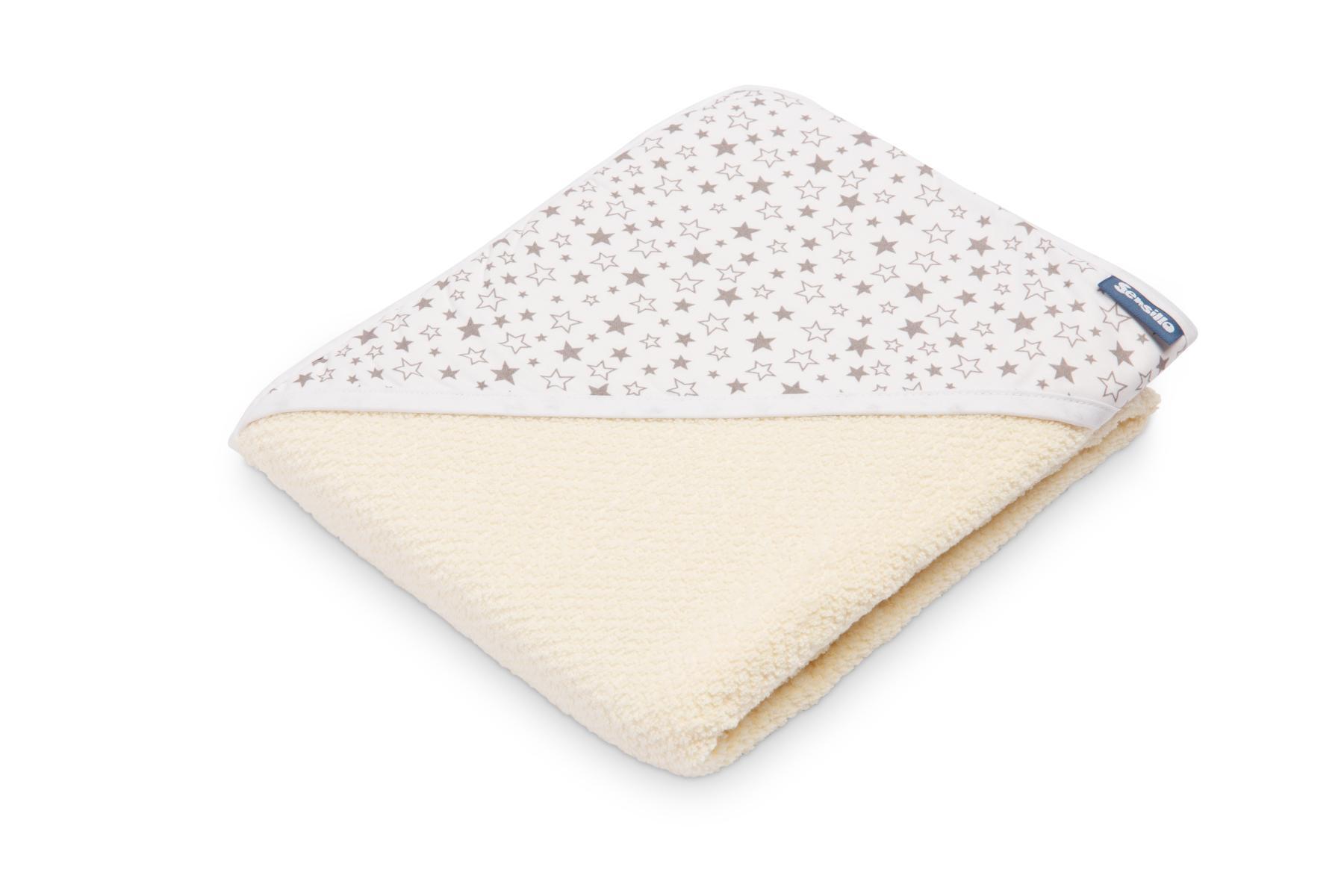 Crepe hooded bath towel – ecru