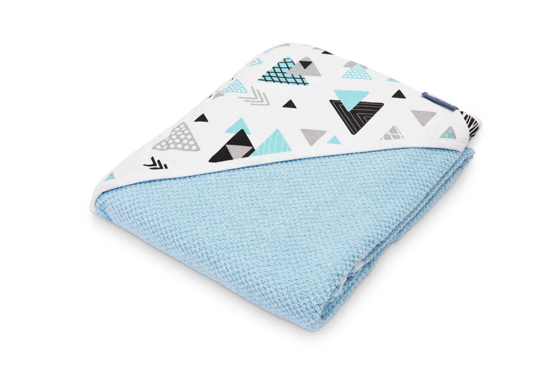 Crepe hooded bath towel – blue