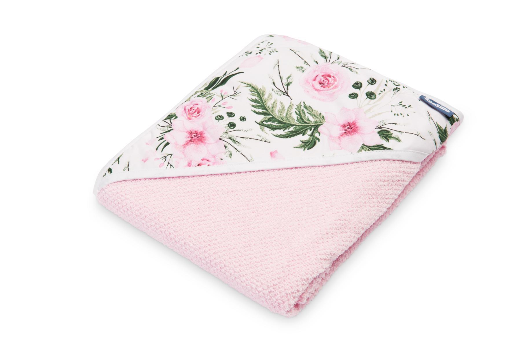 Crepe hooded bath towel – pink