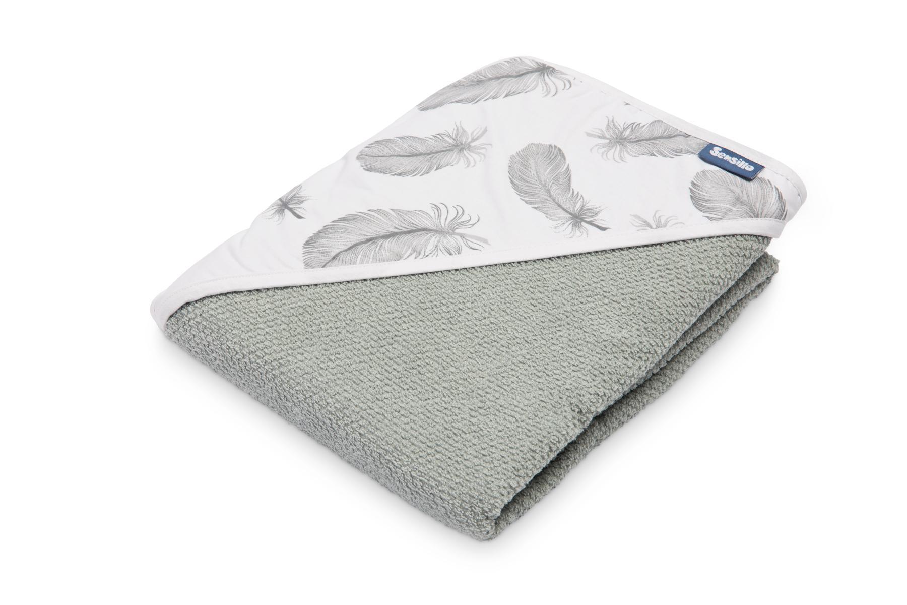Crepe hooded bath towel – grey