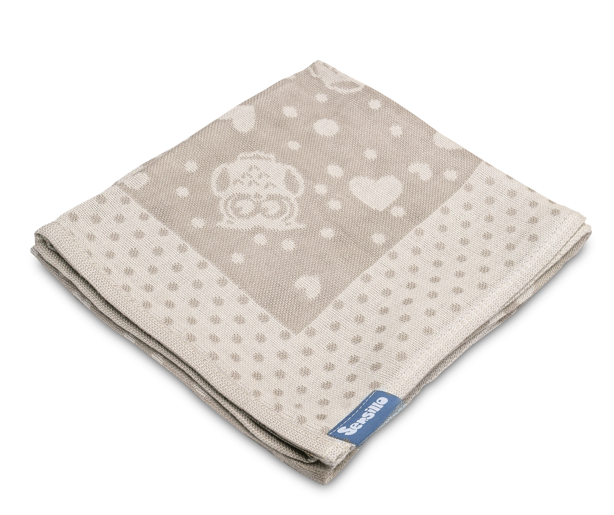 Bamboo and cotton diaper – latte owls