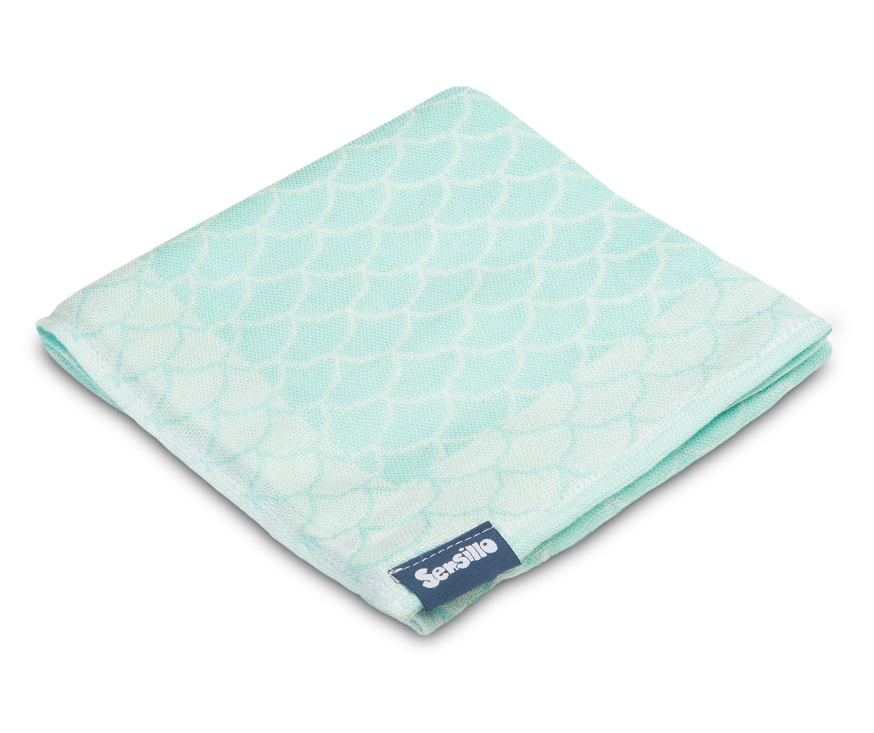 Bamboo and cotton diaper – mint scales