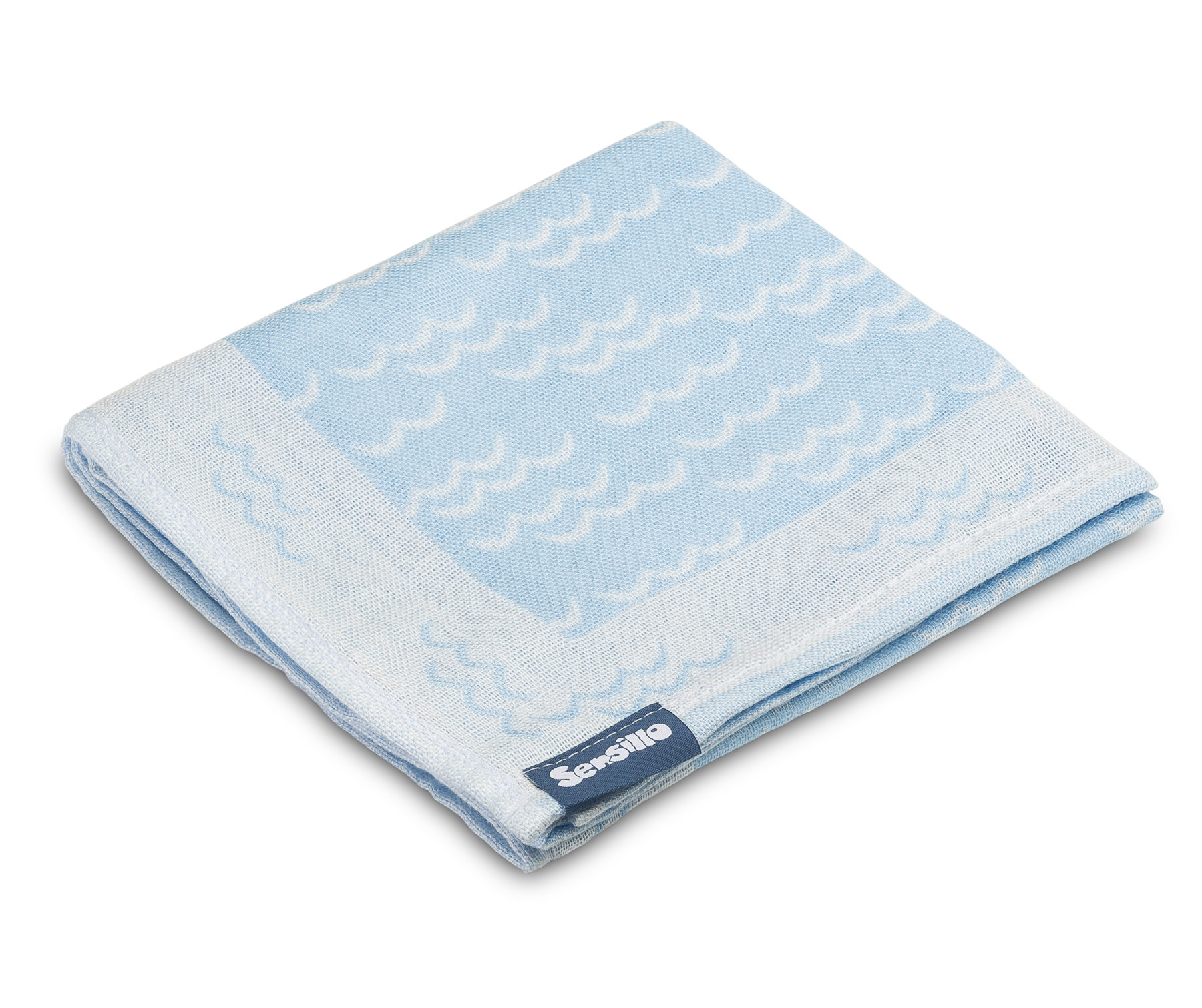 Bamboo and cotton diaper – blue waves