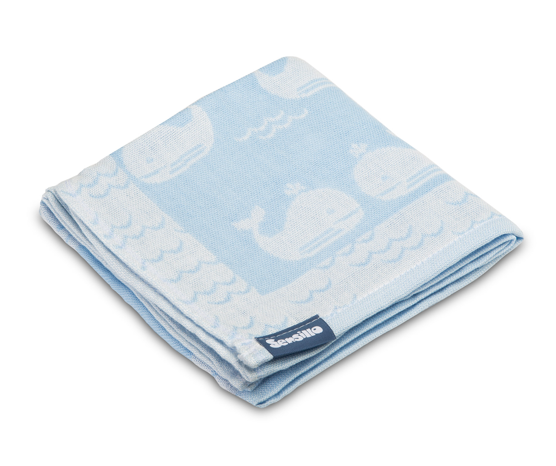 Bamboo and cotton diaper – blue whales