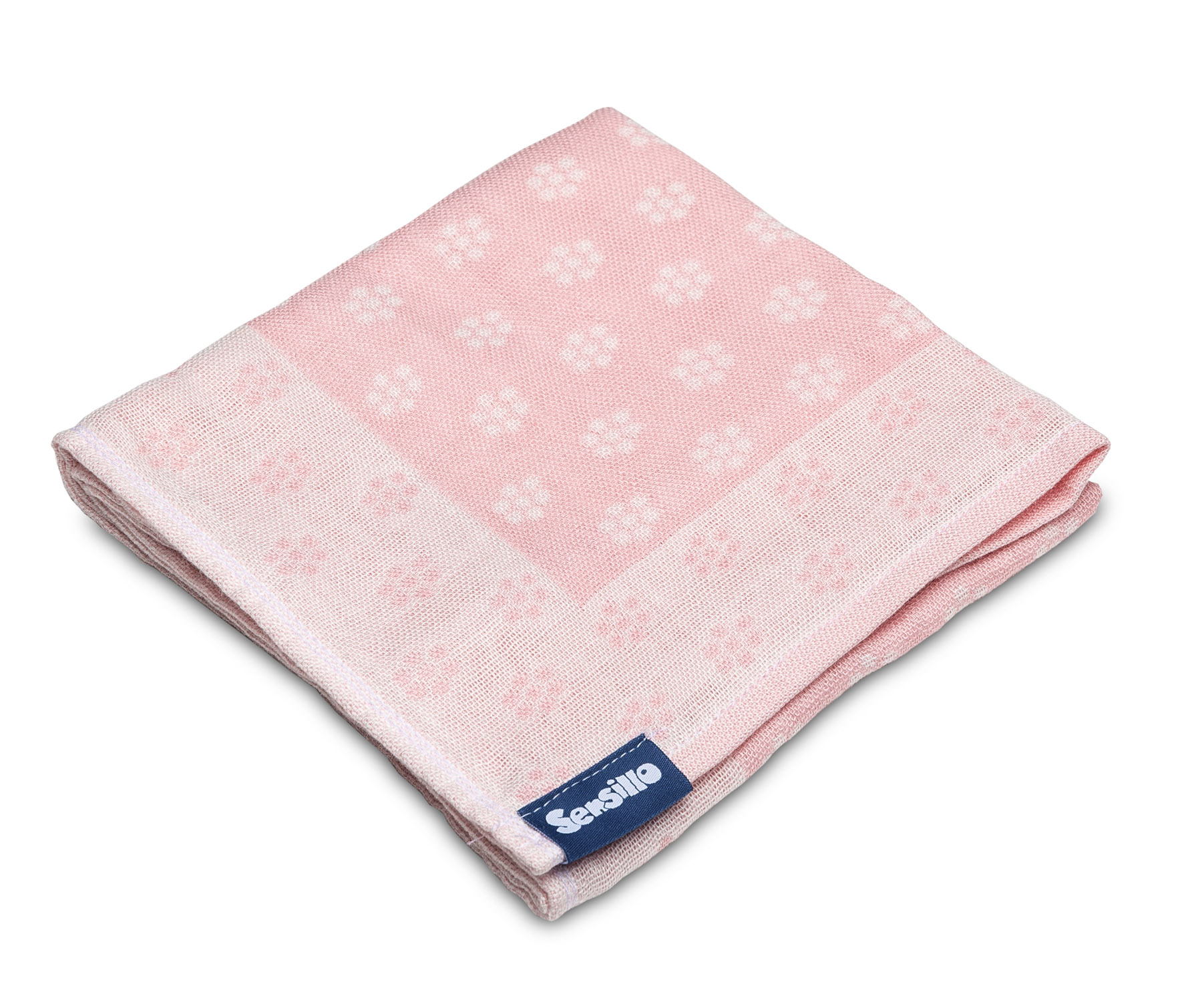 Bamboo and cotton diaper – pink flowers
