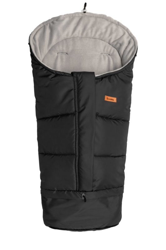 Combi  3in1 Romper Bag – black/grey polar fleece
