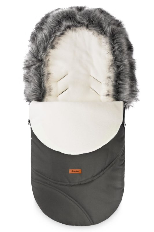 Eskimo Romper Bag – graphite/polar fleece