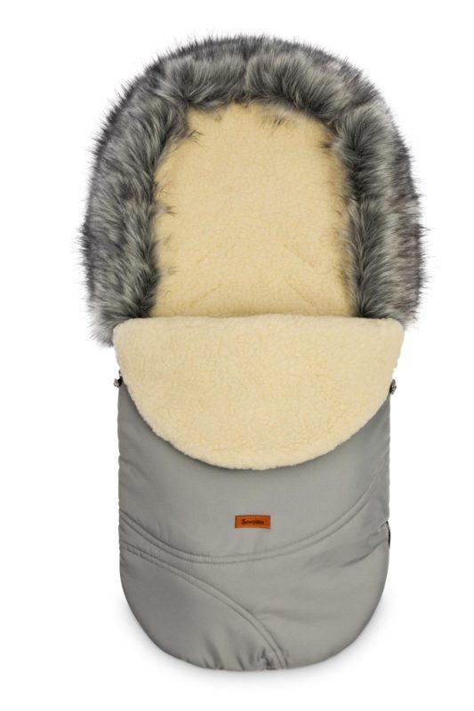 Śpiworek Eskimo – szary/wełna