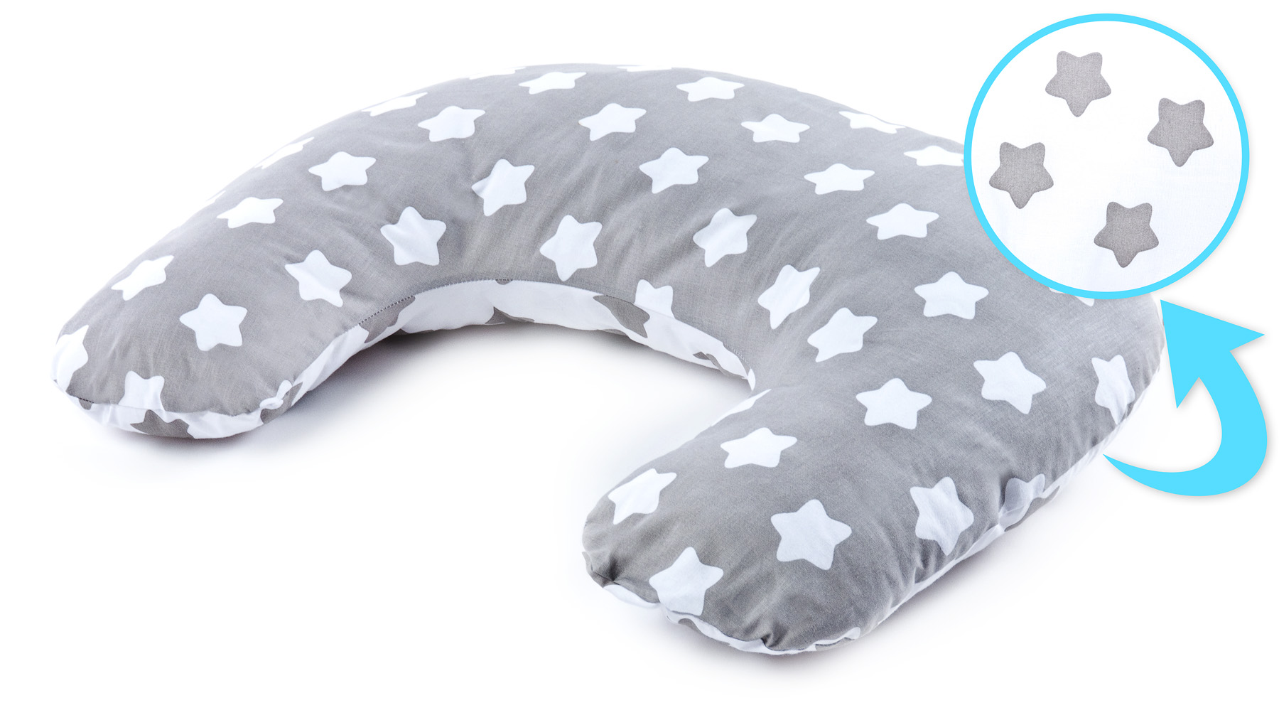 Pillow for Feeding – stars grey