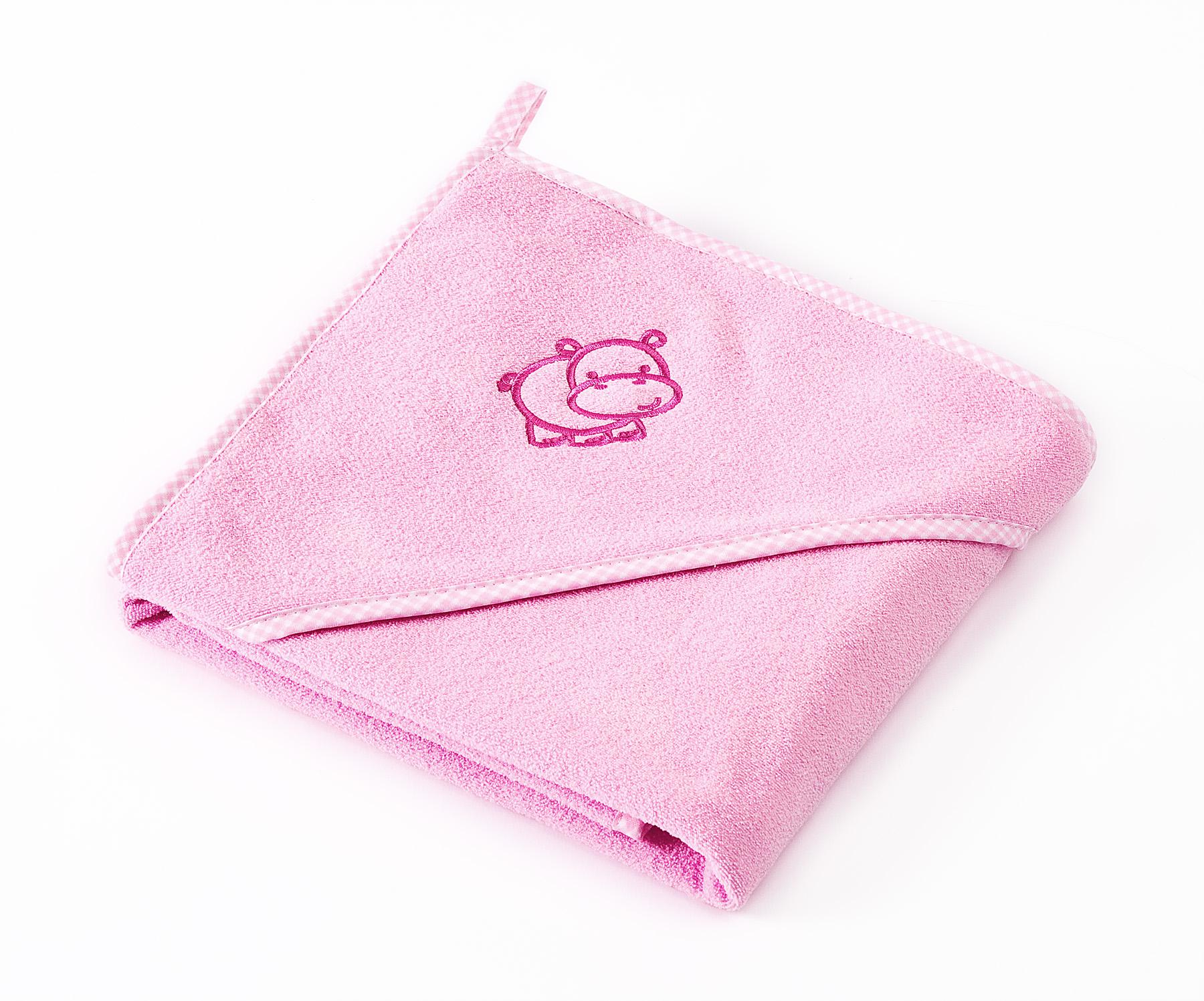 Miękkie okrycie kąpielowe Hippo – różowe