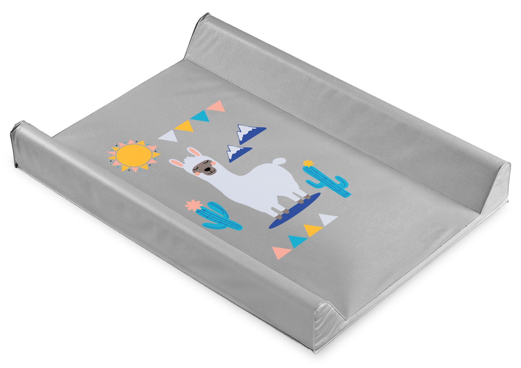 Llamas Changing Pad – grey