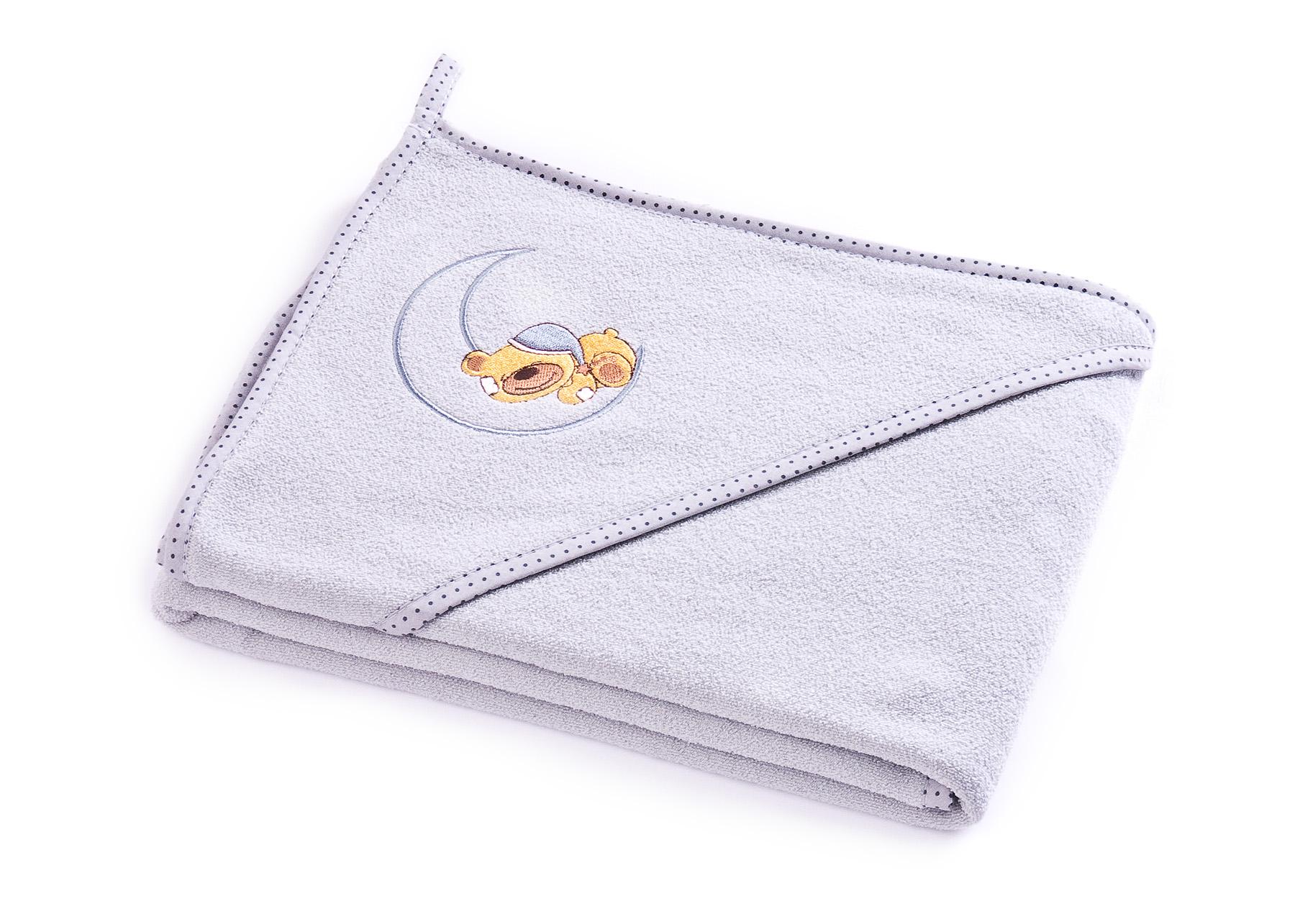 Bear soft bath towel – grey