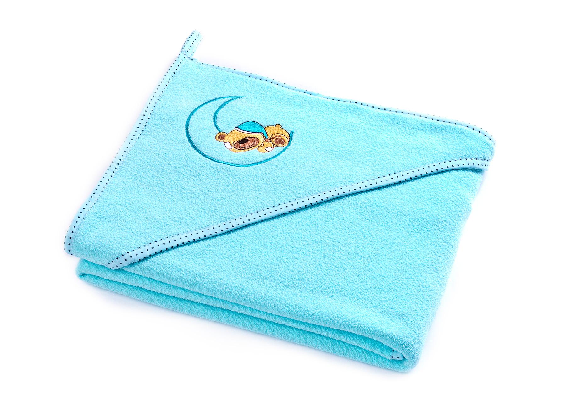 Bear soft bath towel – turquoise