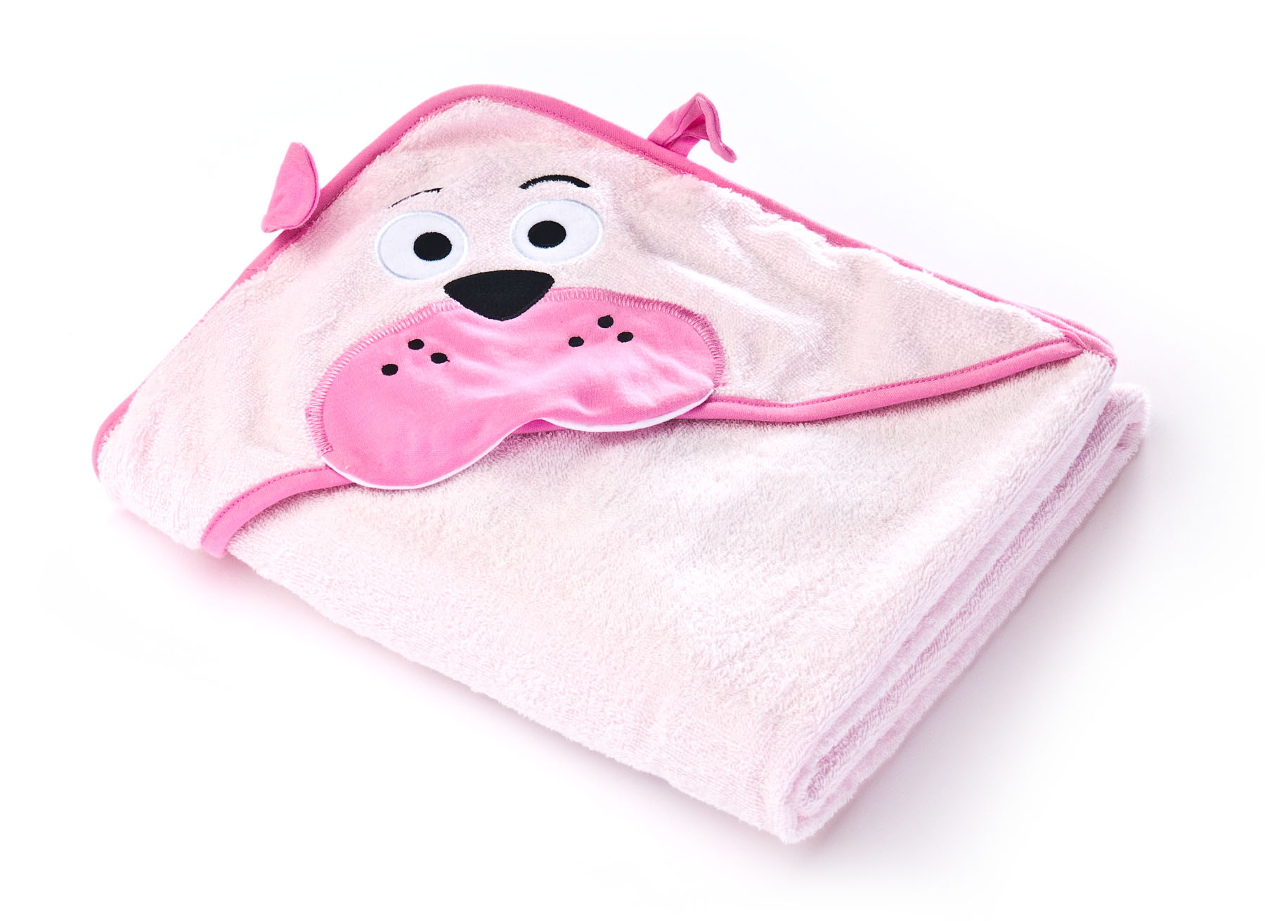 Water Friends soft bath towel – pink teddy bear
