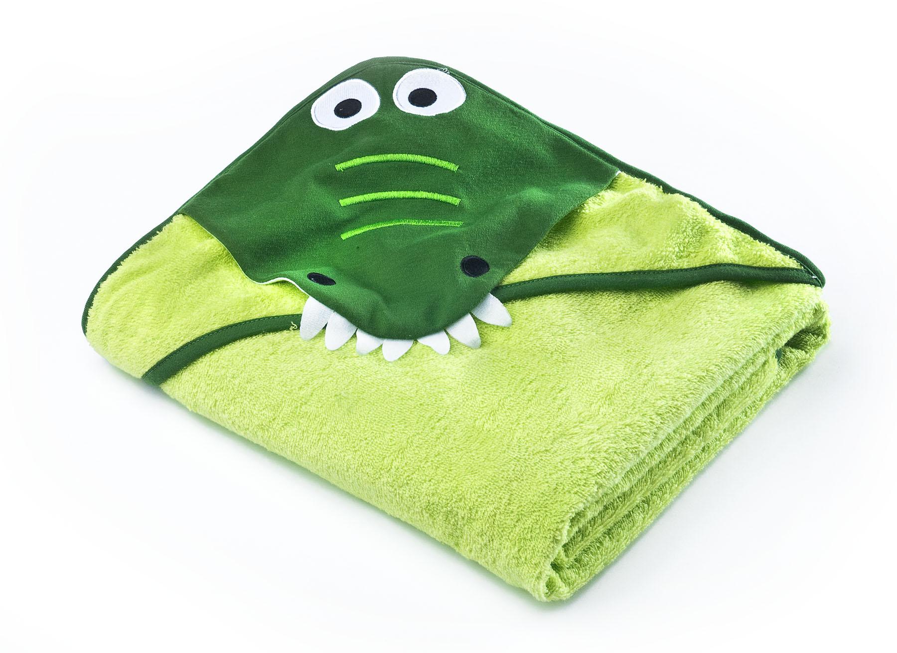 Water Friends soft bath towel – green crocodile