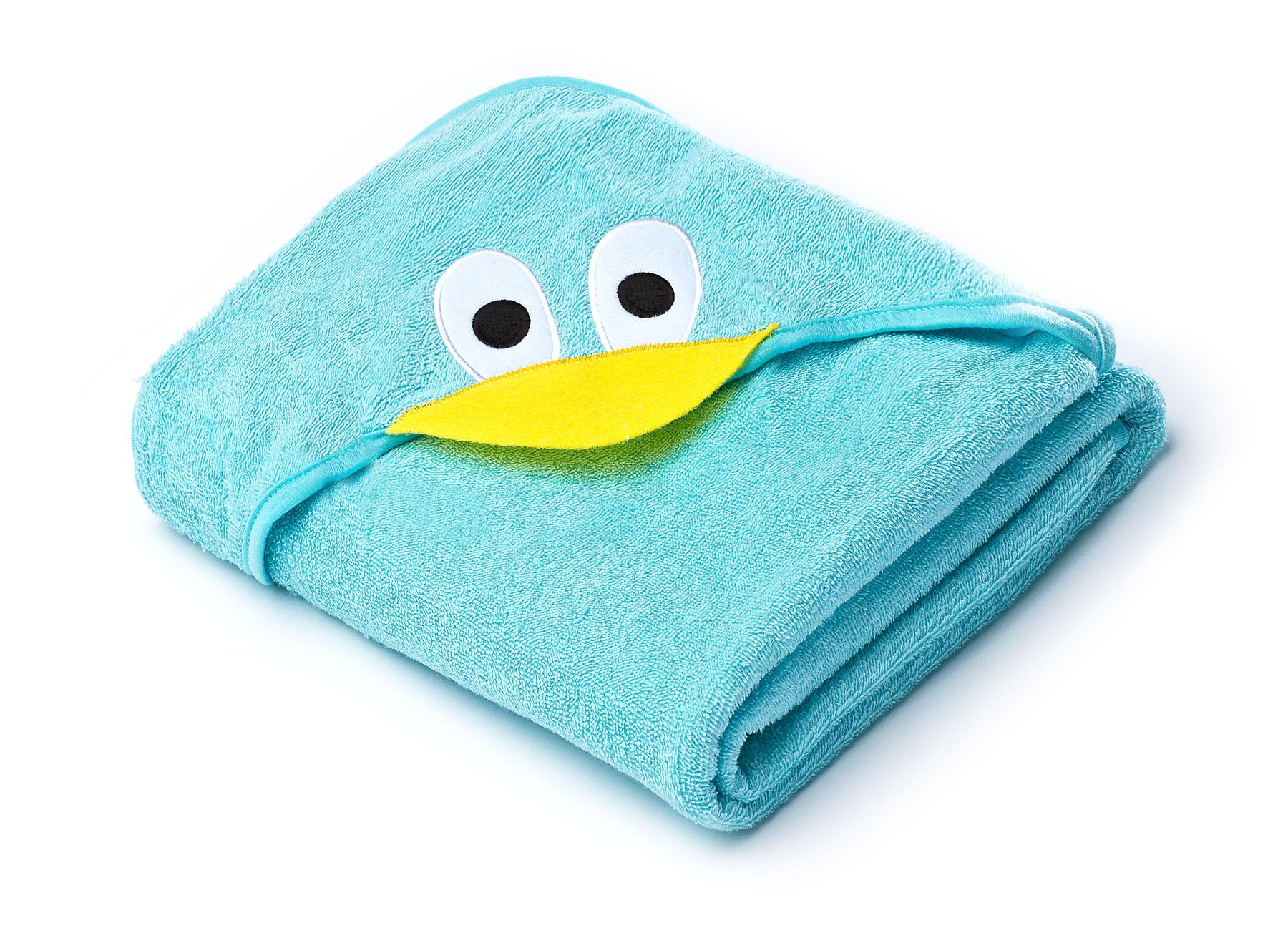 Water Friends soft bath towel – blue duck