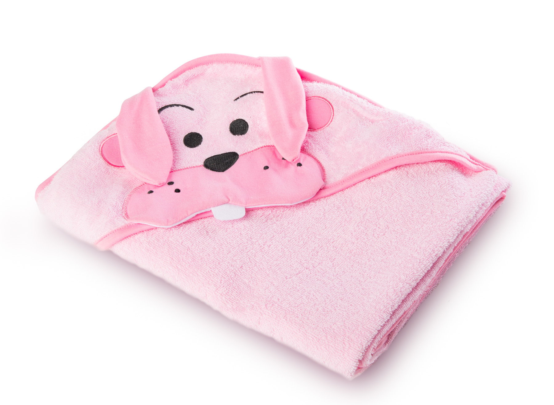 Miękkie okrycie kąpielowe Water Friends – królik różowy