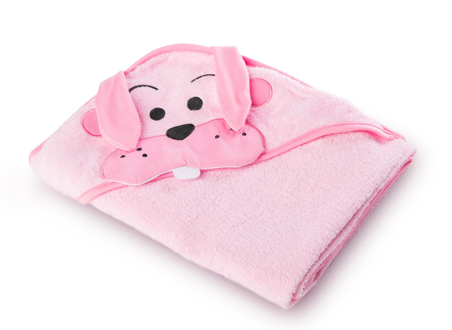 Water Friends soft bath towel – pink rabbit