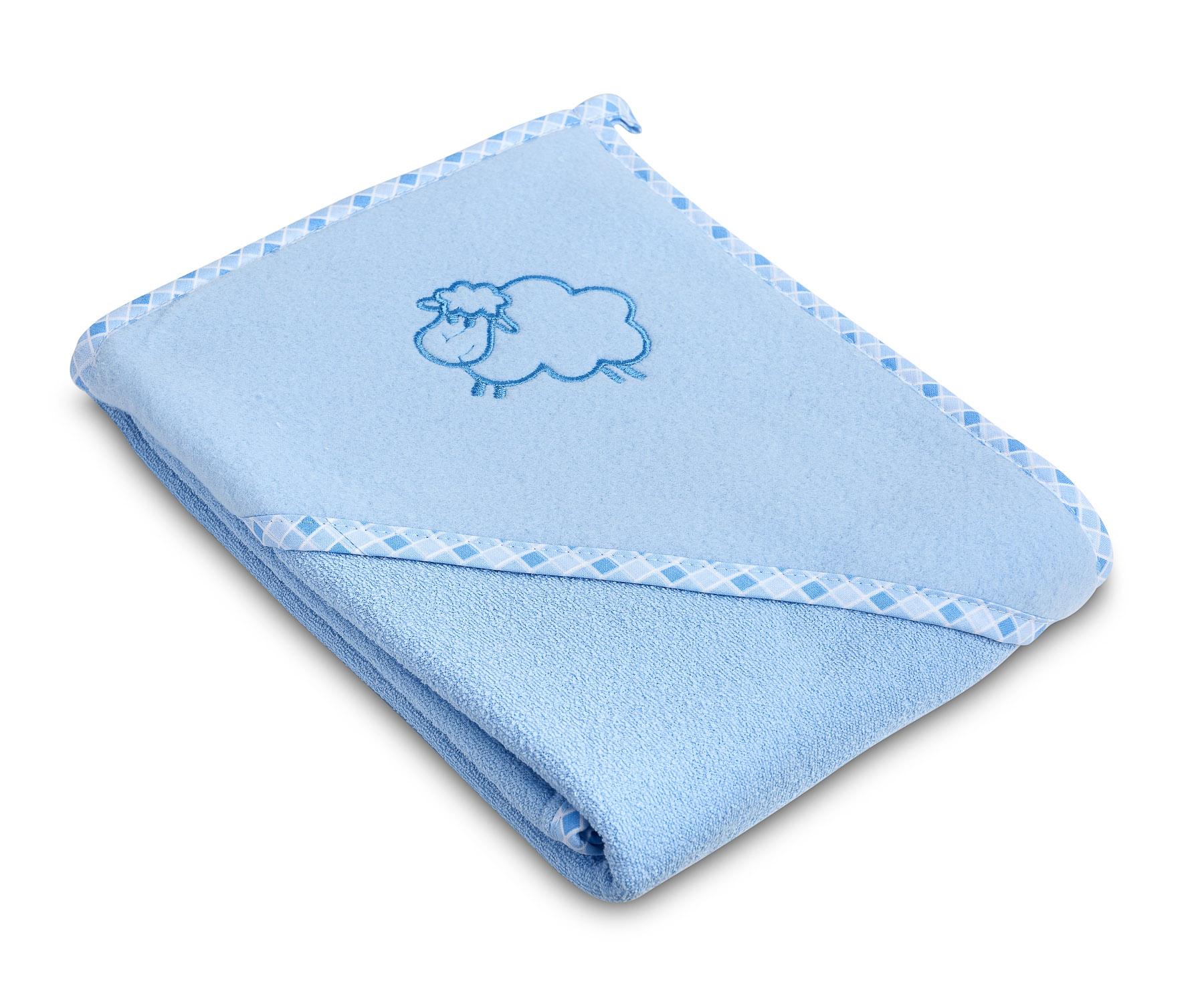 Lamb soft bath towel – blue