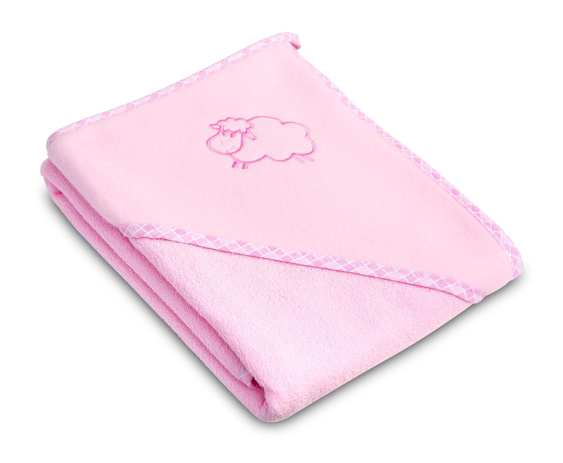 Lamb soft bath towel – pink