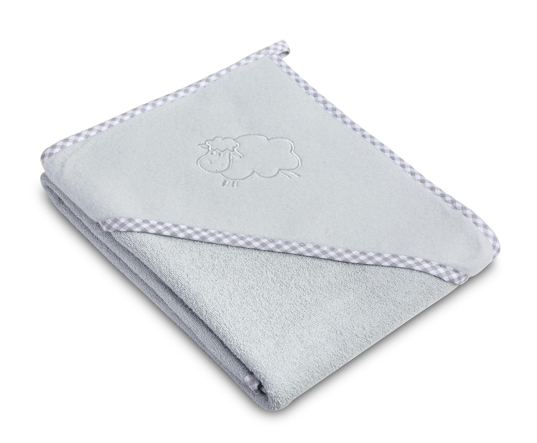 Lamb soft bath towel – grey
