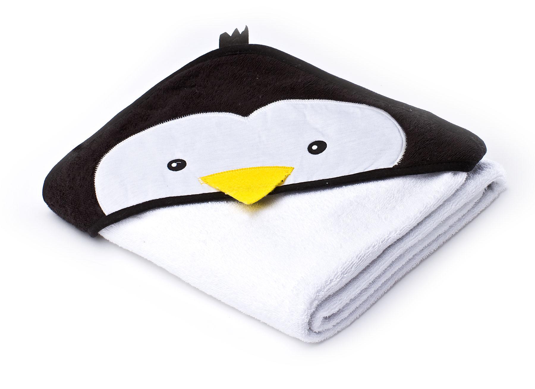 Miękkie okrycie kąpielowe Water Friends – pingwin biały