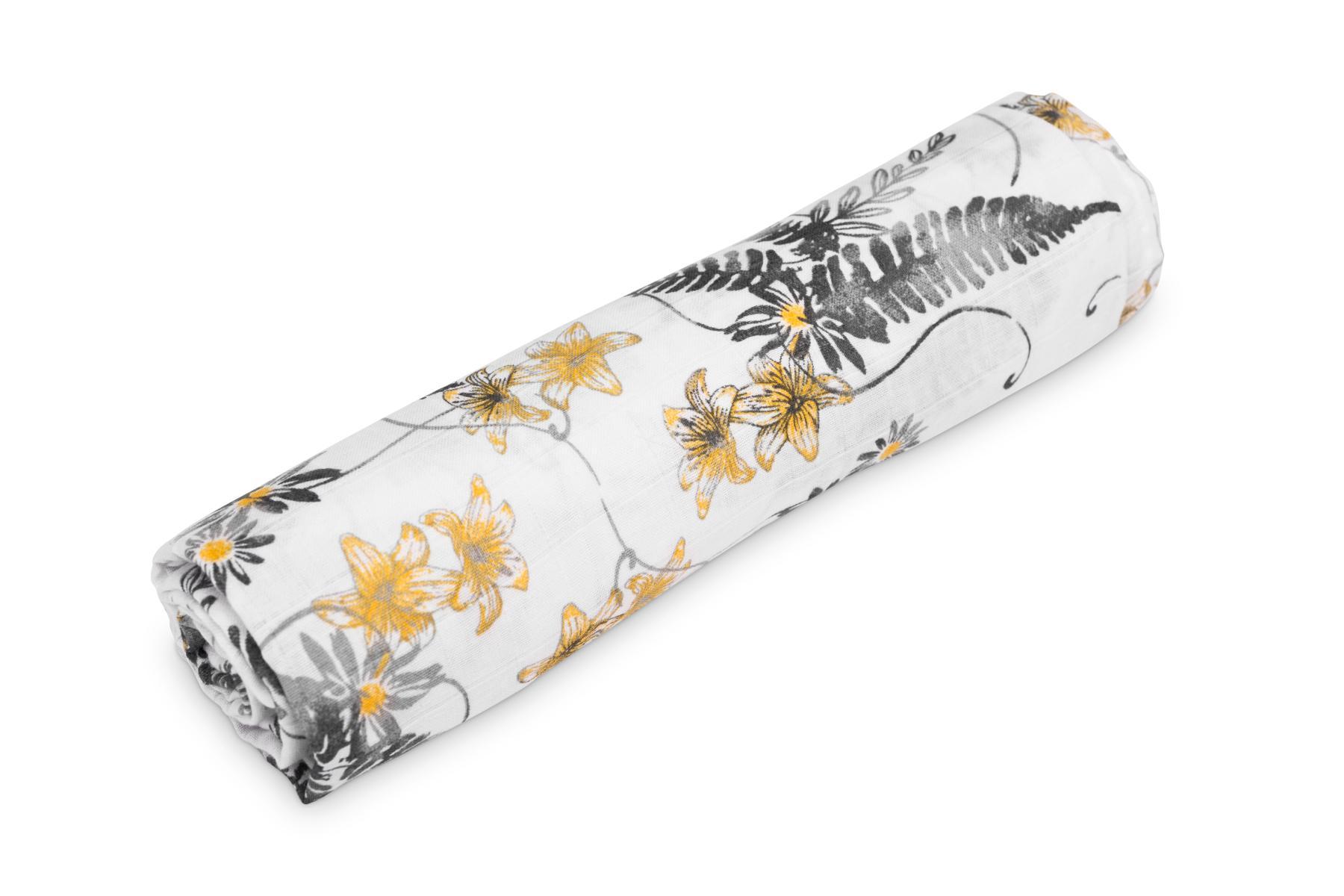 Muslin swaddle blanket – ferns