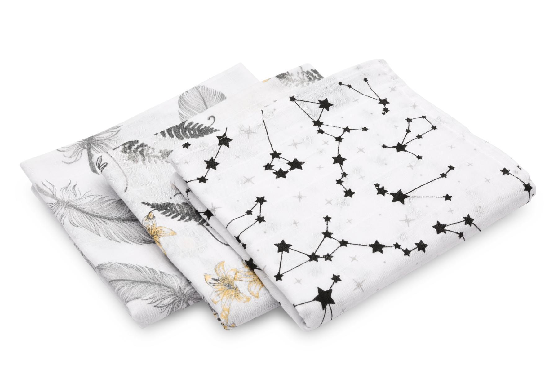 Muslin diaper 3-pack – grey