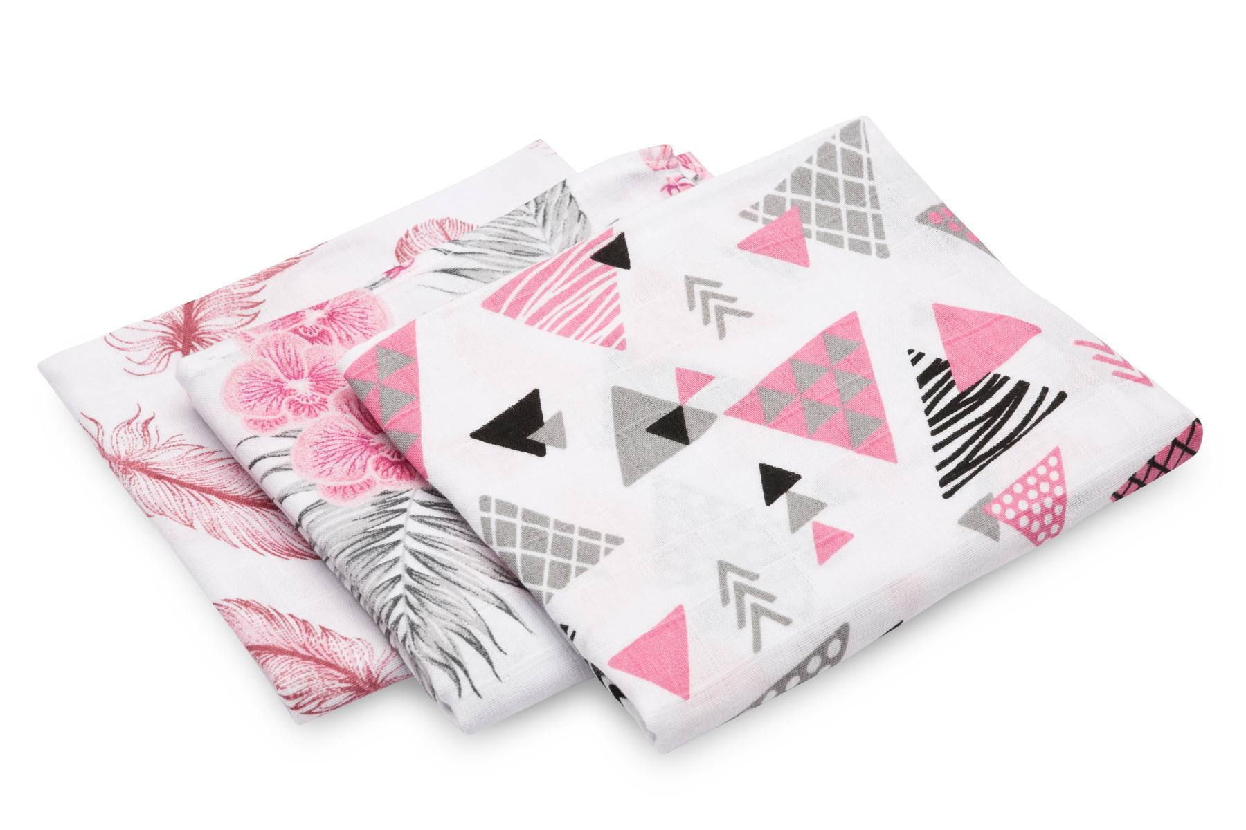 Muslin diaper 3-pack – pink