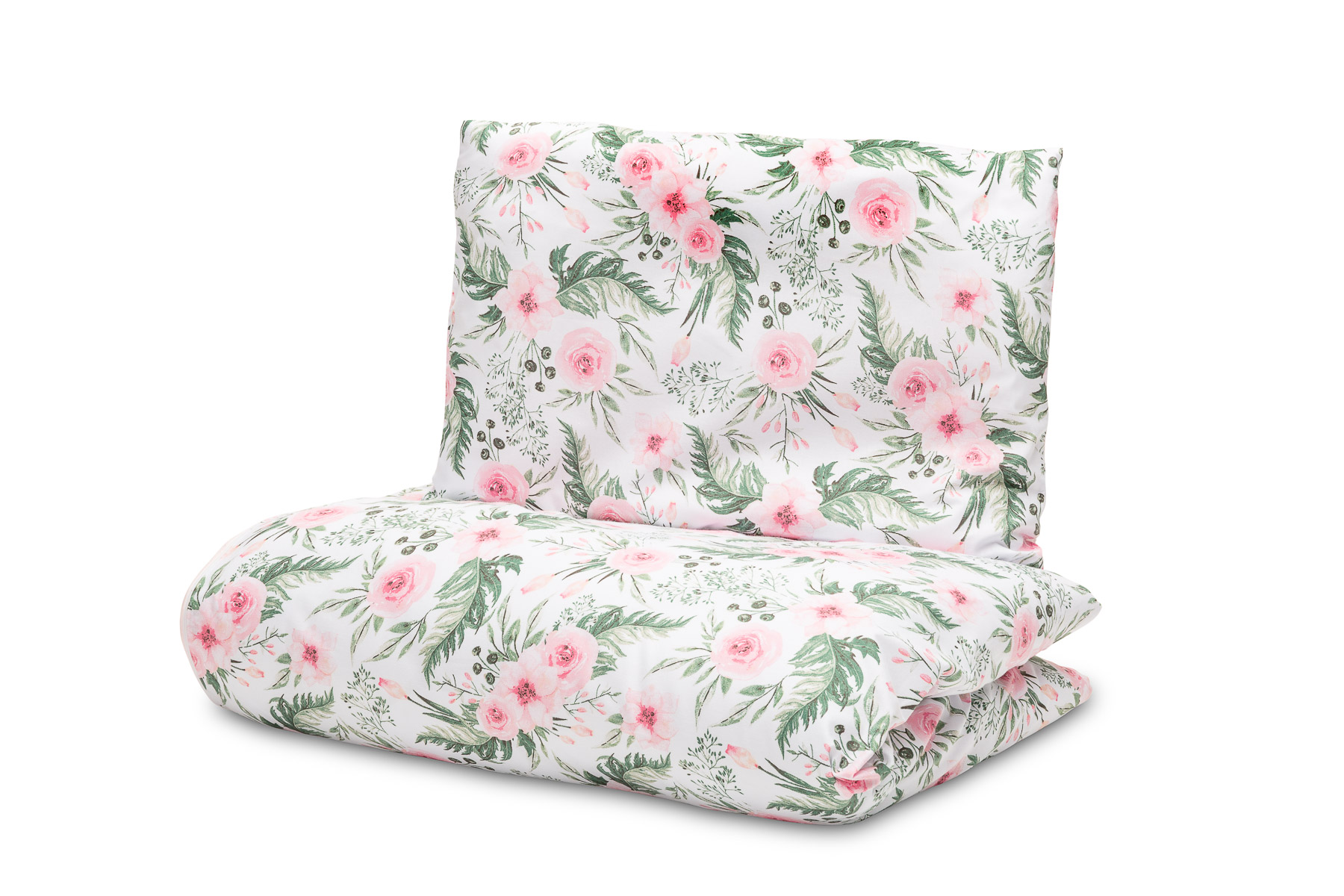 2-pieces 100×135 cm Bed – roses pink