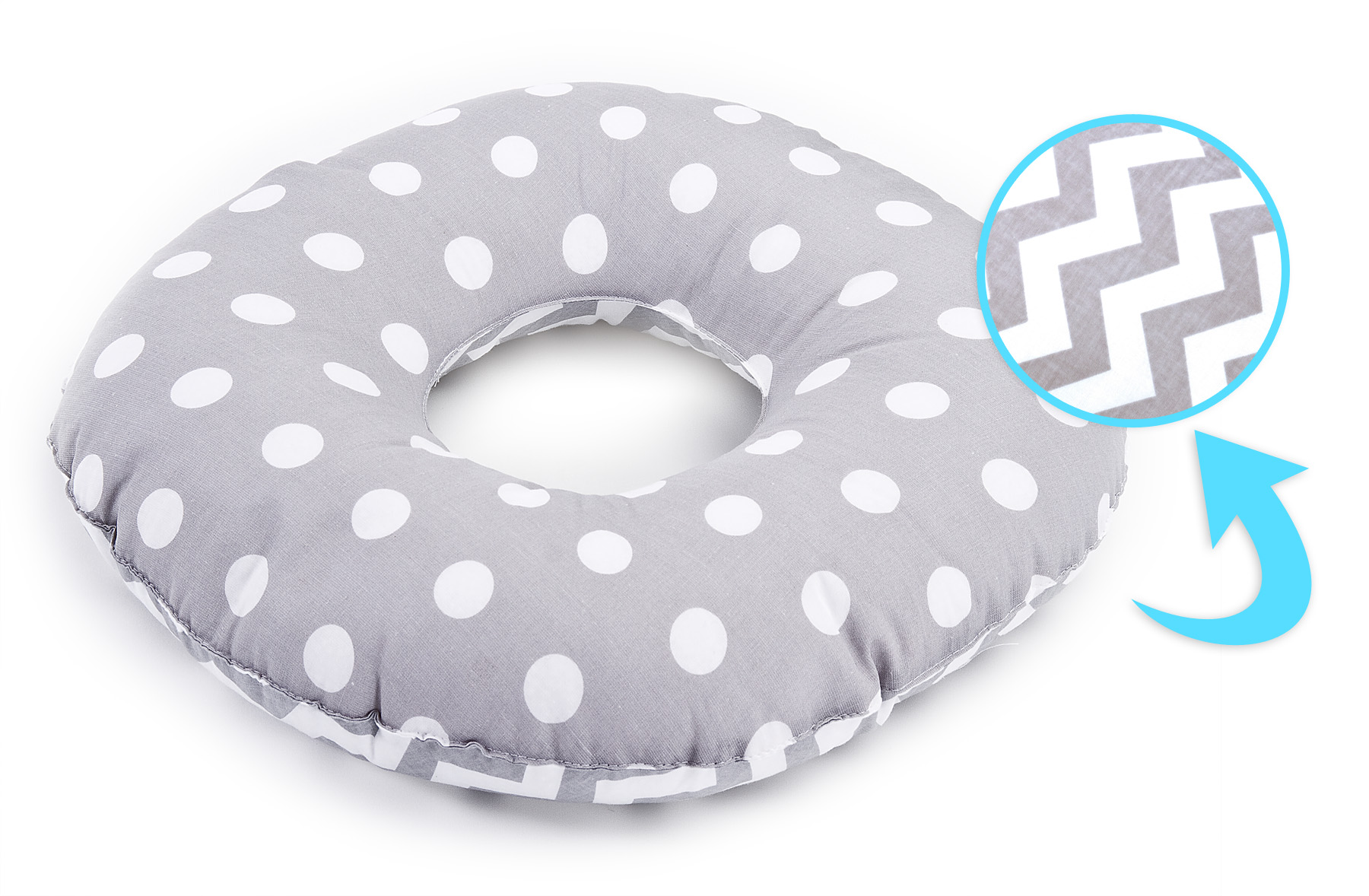 Postnatal Pillow – peas grey