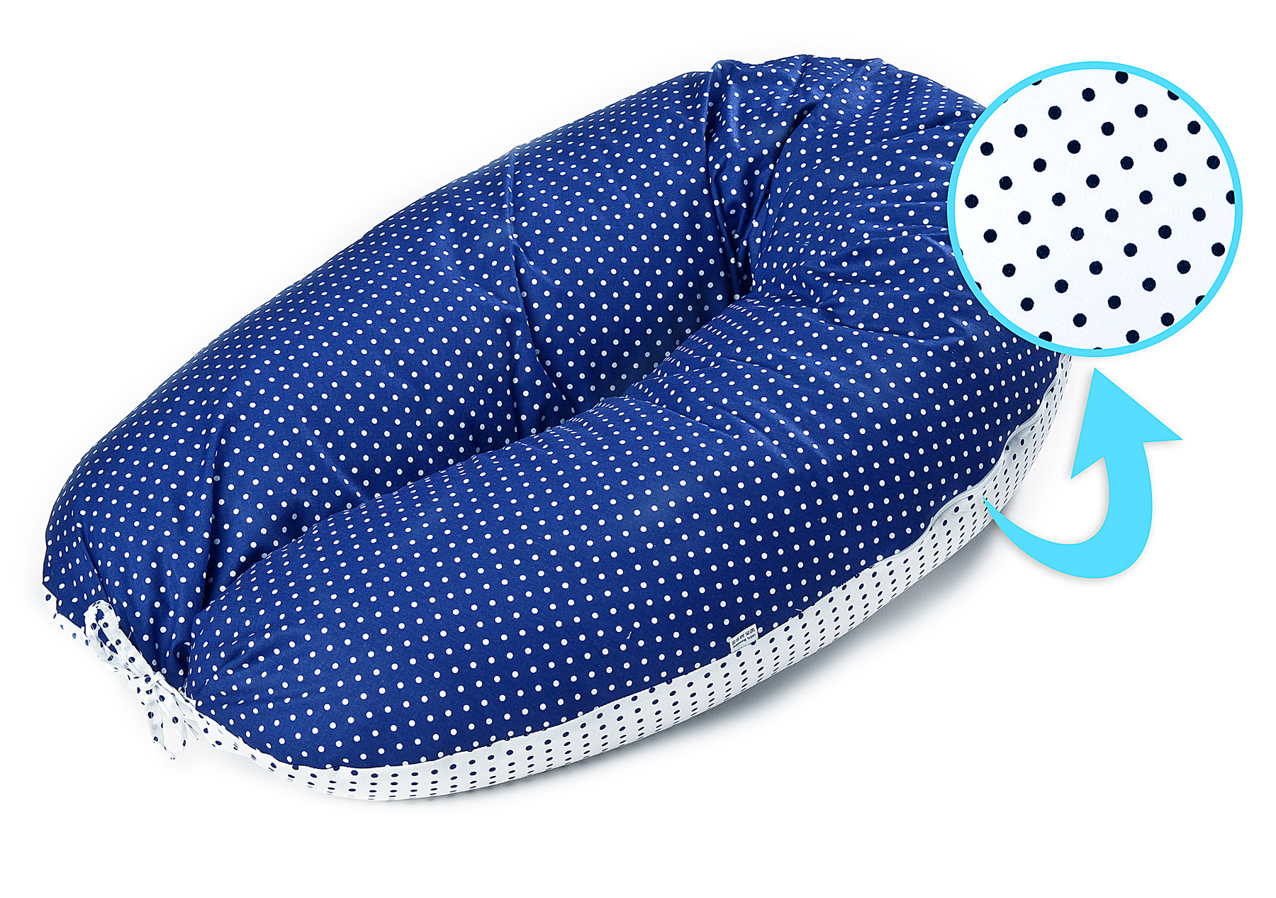 XL Pregnancy Pillow peas navy blue