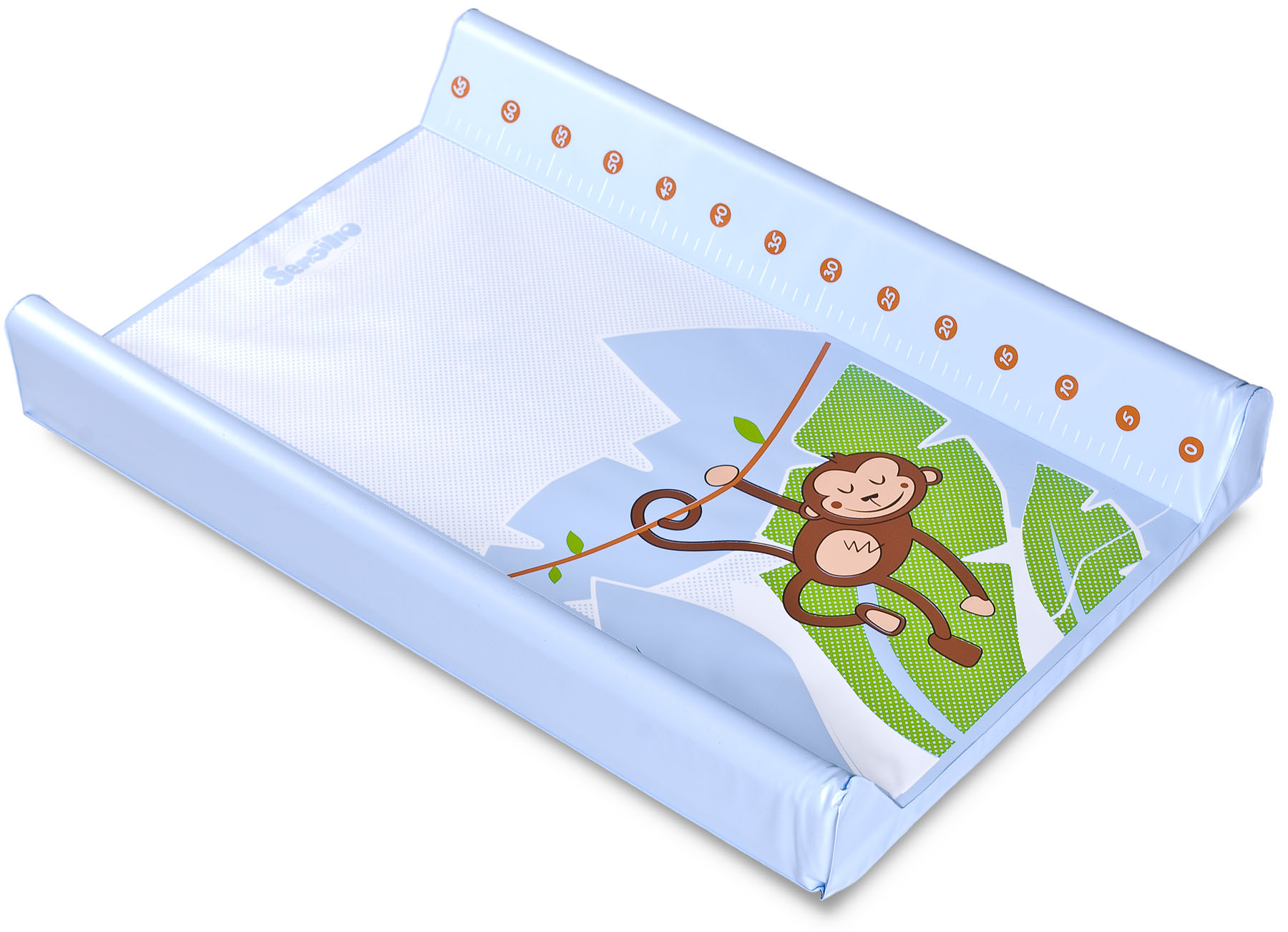 Tropical Changing Pad – monkey blue