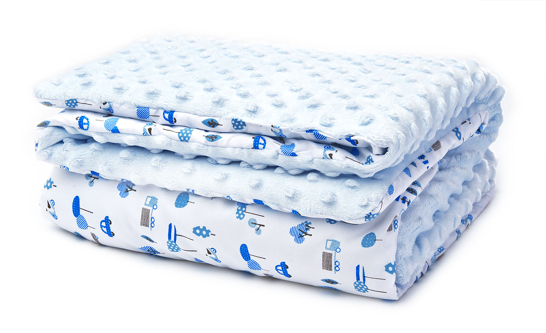 Two-sided Soft blanket – blue