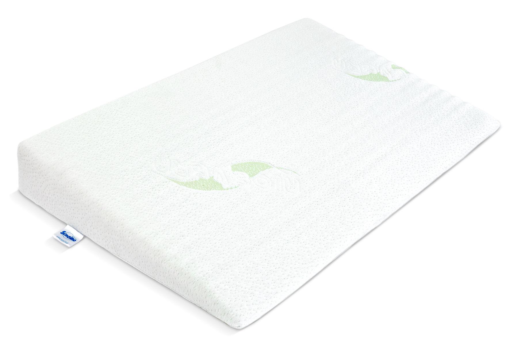 Poduszka klin do łóżeczka LUXE ALOE VERA – 38x60cm