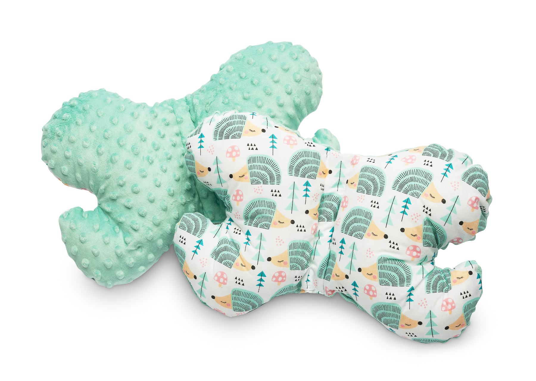 Butterfly Pillow – hedgehogs mint