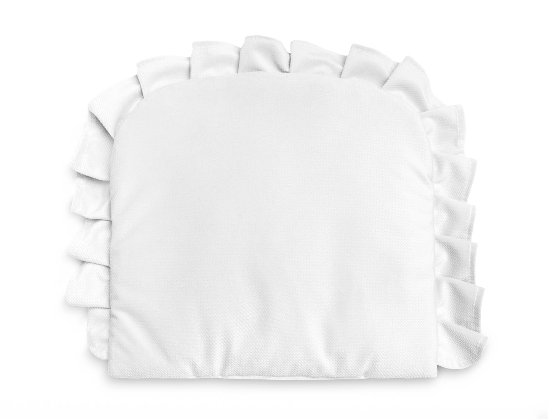 Pillow With a Frill – Velvet white