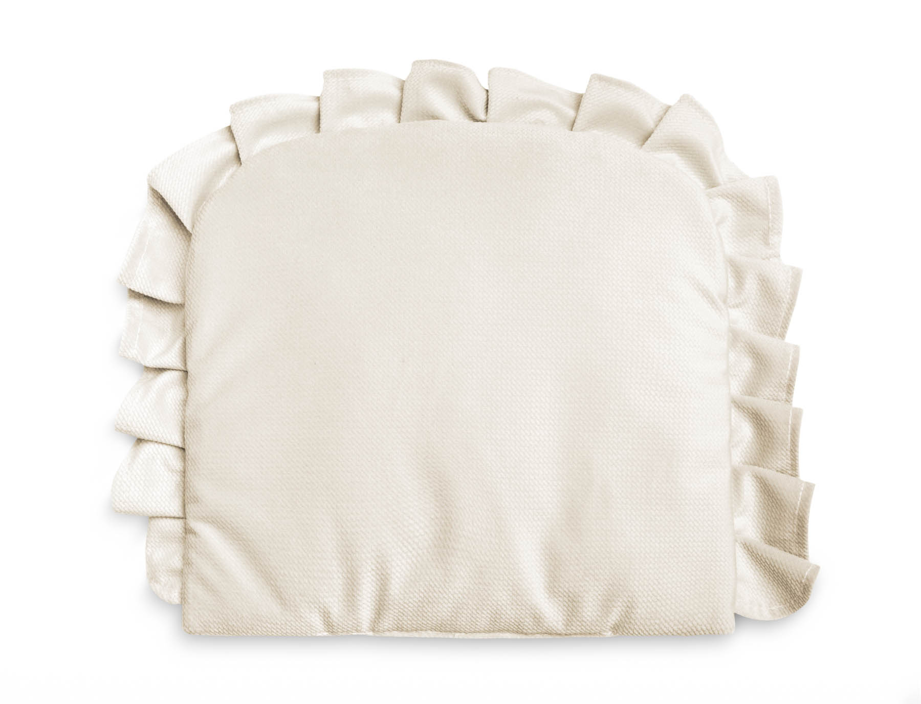 Pillow With a Frill – Velvet ivory