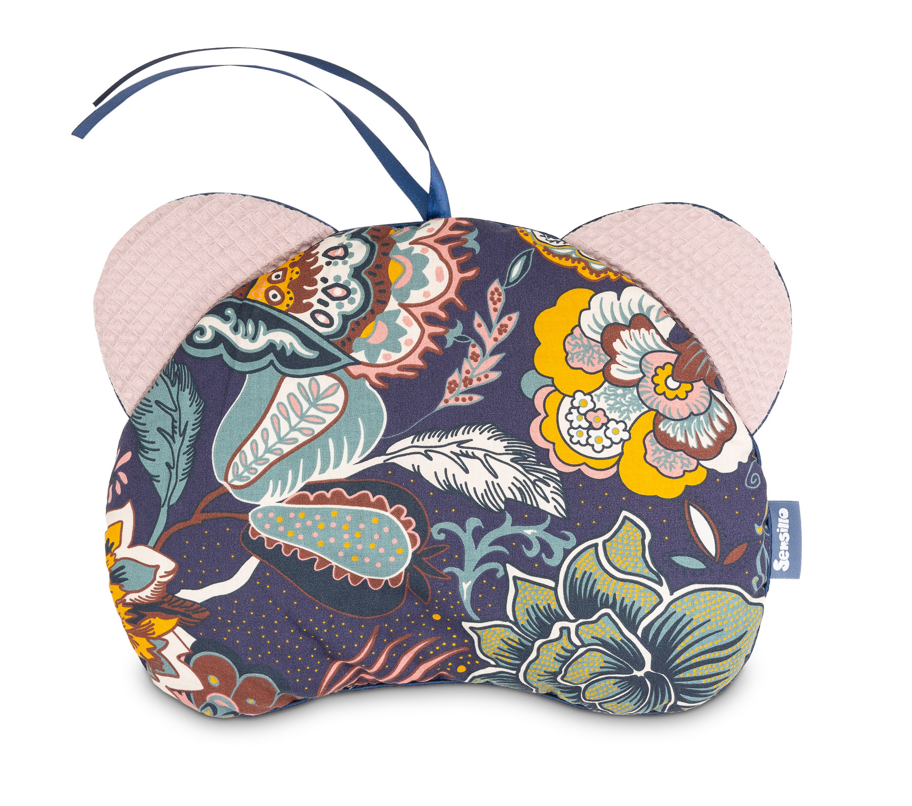 Pushchair pillow Bear – Waffle boho dusty rose