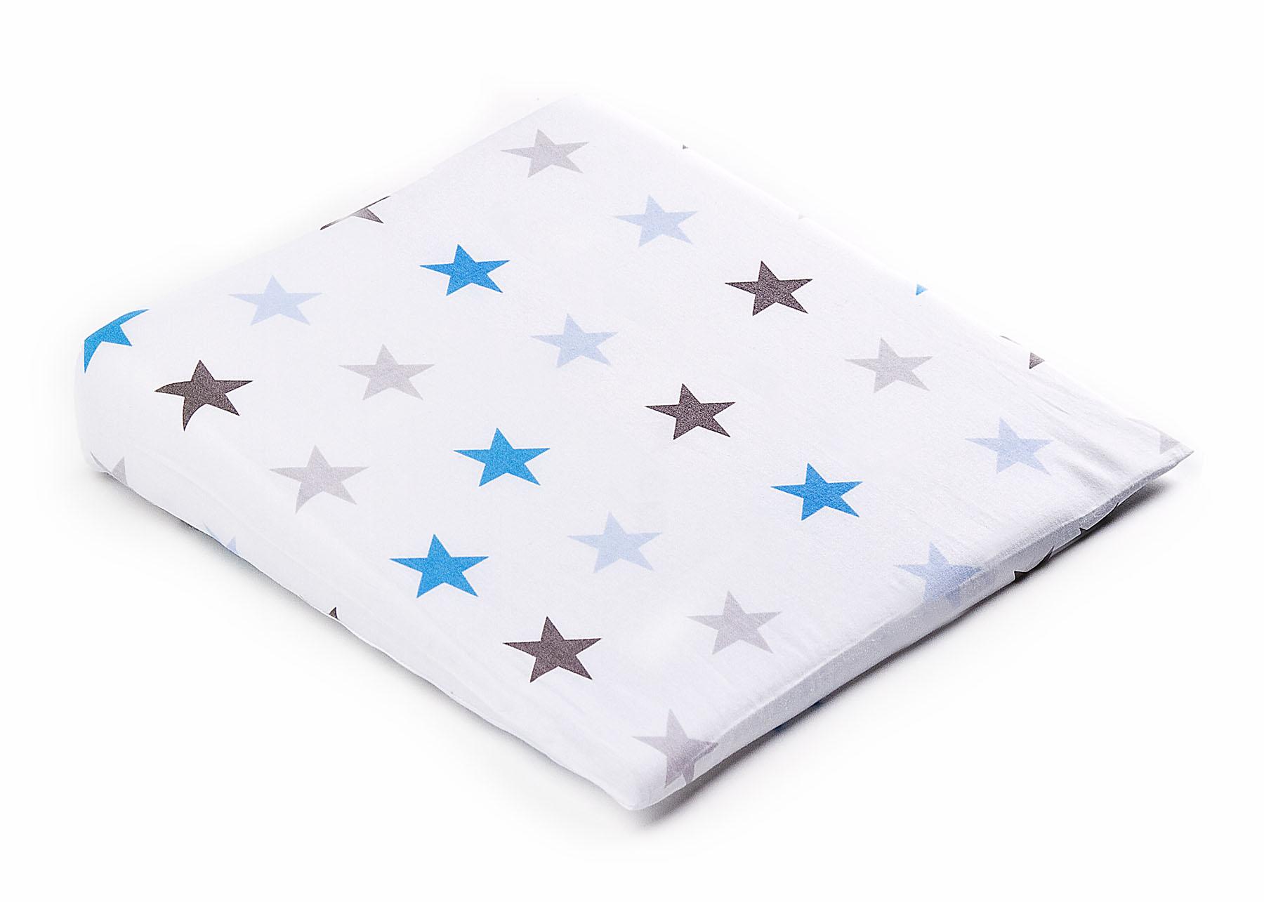 Pokrowiec na poduszkę-klin do wózka – galaktyka niebieski